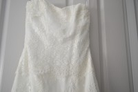 Bliss by Monique Lhuillier Strapless Wedding Dress (Size 8)