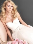 Champagne Allure Gown (2607) with beautiful straps and jeweled buttons