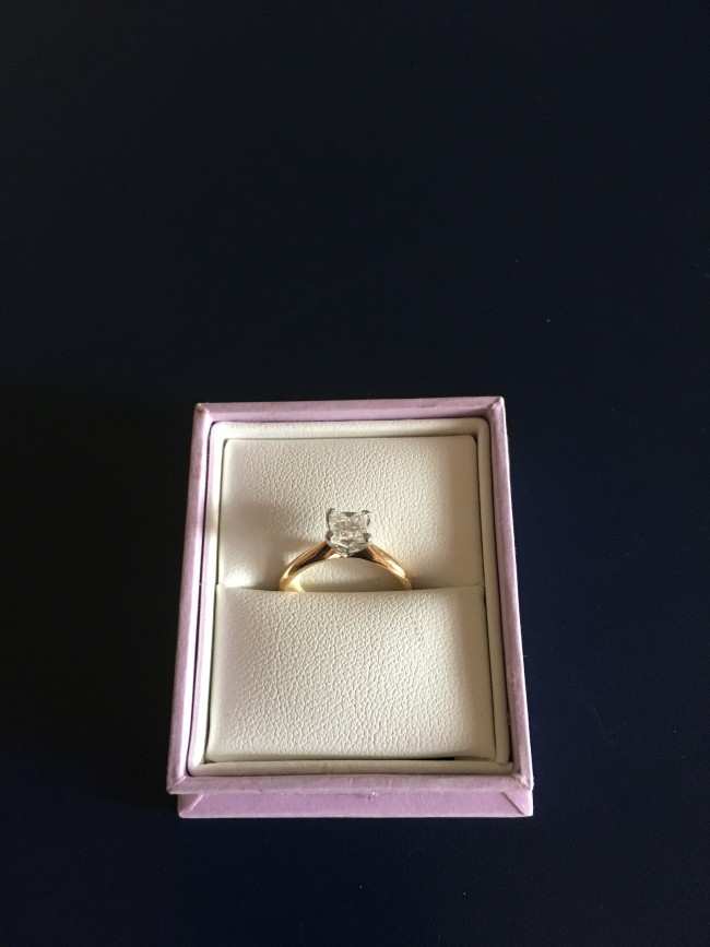 18ct Princess Cut Engagement Ring