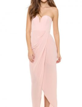 Zimmermann Sild Drape Maxi Dress - Rosewater