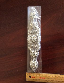 Rhinestone appliqué for wedding belt