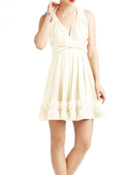 Two Birds Rosette Mini Dress
