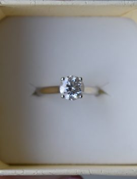 18ct White Gold Solitaire Diamond Ring (1.23ct)