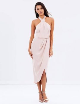 Shona Joy – knot draped dress in ballet