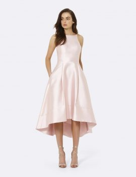 Forever New Satin Pink Bridesmaid Couture Dress Size 6