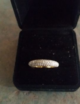NEW 0.62ct Yellow Gold 18ct Diamond Pave Wedding Ring