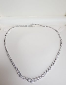 3.05 Carat White Gold Ladies Necklace