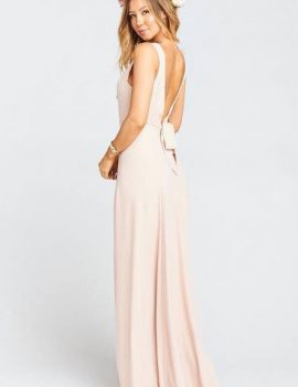 Dusty blush bridesmaid dress