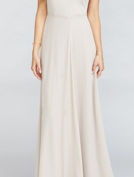 Neutral toned Maxi Bridesmaid dress