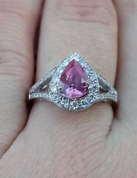 Madagascan Sapphire 1.3ct Engagement Ring