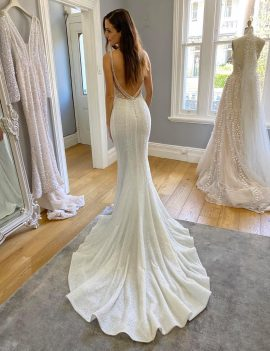 PALLAS COUTURE BEADED WEDDING DRESS FOR SALE