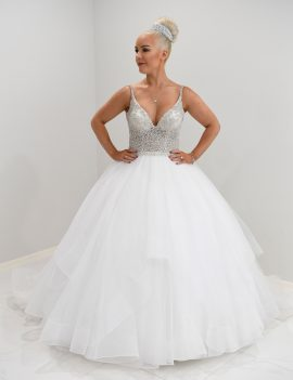 Lazaro inspired ball gown