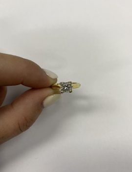 Michael Hill 18ct Yellow/White Gold Solitaire Ring w/ 1.05t Diamond